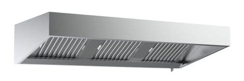 Combisteel Stainless Steel Wall-Mounted Extraction Hood 1200mm Wide - 7333.0605